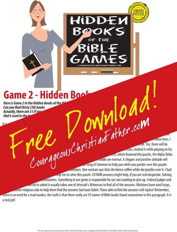 Hidden Books of the Bible - Game 2 (click to download)