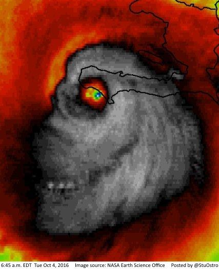 Hurricane Matthew Skull Black