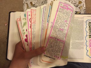 Georgia Teen Gives Boyfriend a Filled in Journaling Bible for Christmas - Be kind to one another tendered forgiving - always be kind