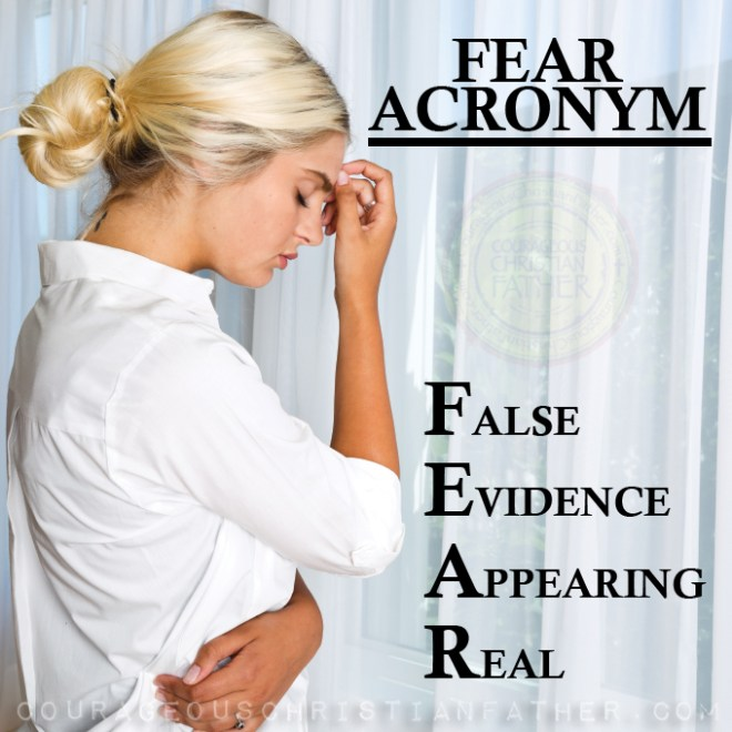 False Evidence Appearing Real (Acronym for Fear) #Fear