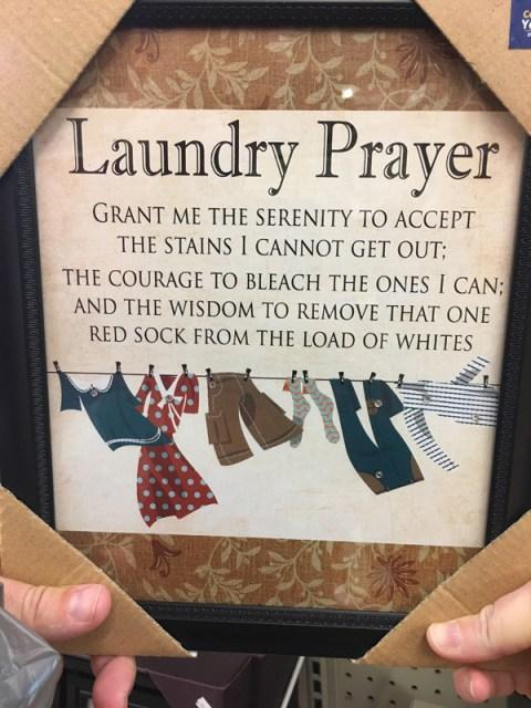 Laundry Prayer #LaundryPrayer
