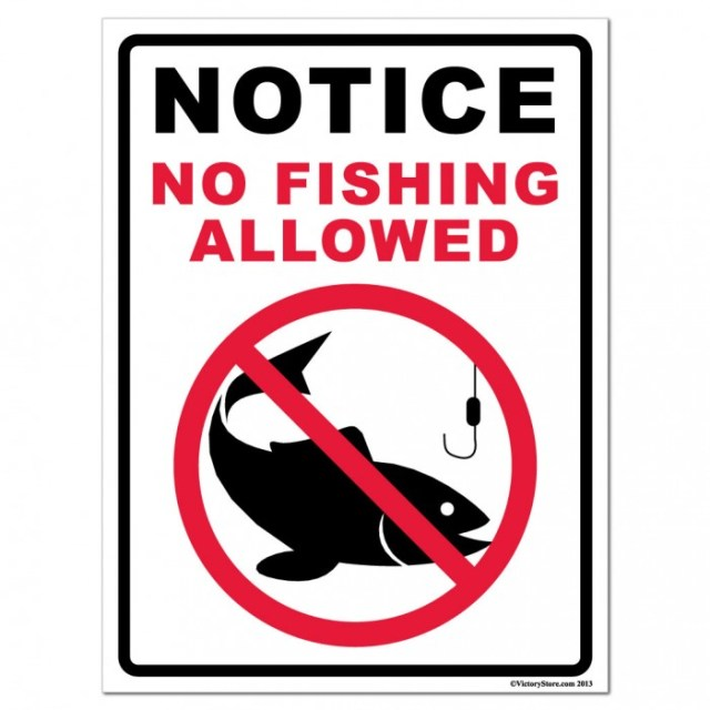 No Fishing allowed in the Sea of Forgetfulness