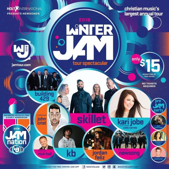 2018 Winter Jam East Coast Poster #WinterJam