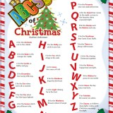 ABC's of Christmas Printable