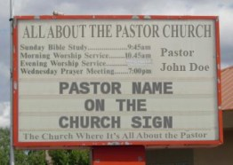 Pastors Name on the Church Sign
