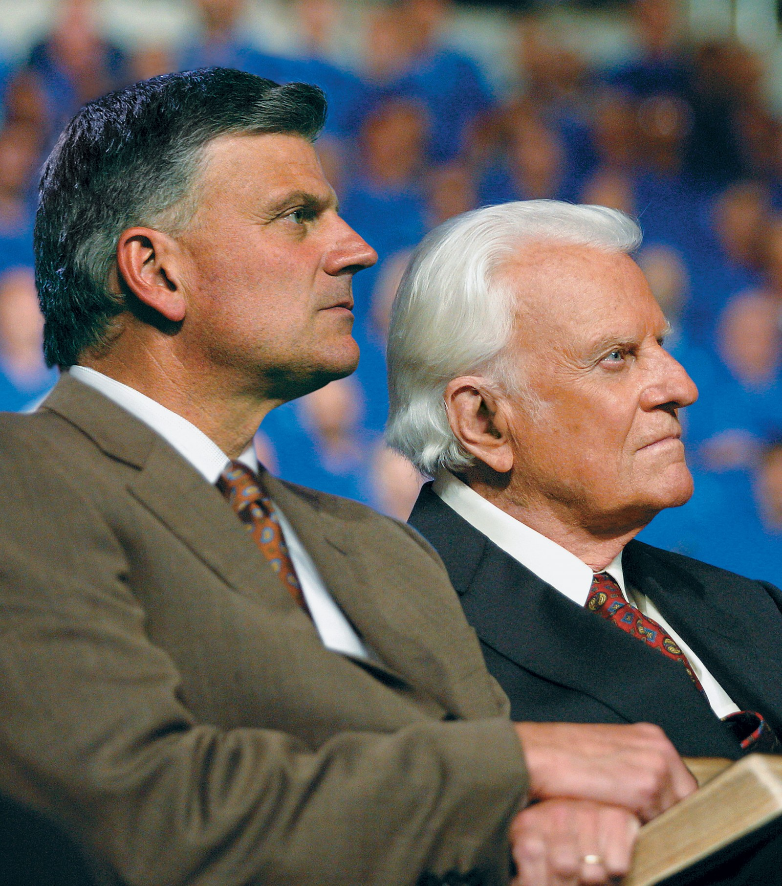 Franklin Graham and his father, Billy Graham.Statement from Franklin Graham About Billy Graham's 99th Birthday