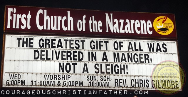 The greatest gift of all was delivered in a manager, not a sleigh! First Church of the Nazarene - Corbin, KY