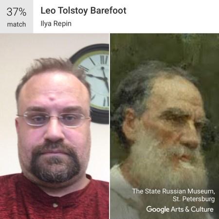 Leo Tolstoy Barefoot - Google Art and Culture App #MuseumDoppelganger #Doppelganger