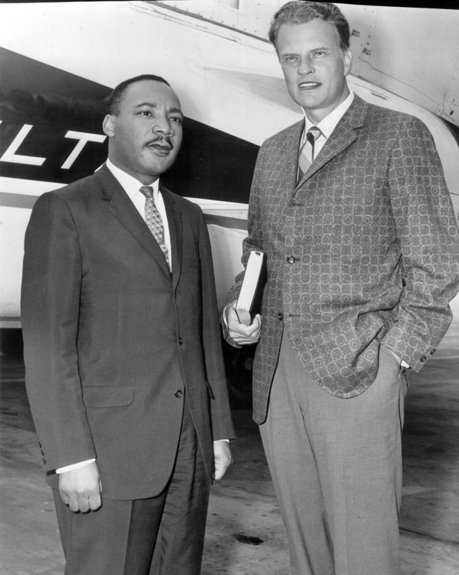"""Had it not been for the ministry of my good friend, Dr. Billy Graham, my work in the civil rights movement would not have been as successful as it has been,"" said Martin Luther King Jr. (photo: Chicago, 1952) -- Billy Graham on Race Relations"