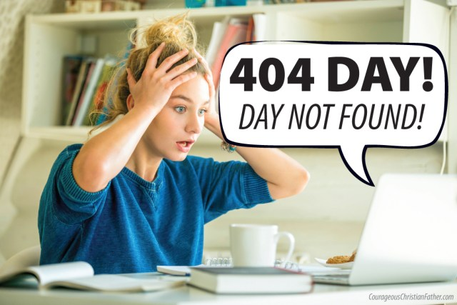404 Day - Day Not Found!