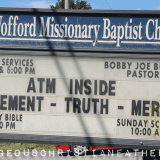 ATM Acronym Church Sign from Wofford Missionary Baptist Church (Aton