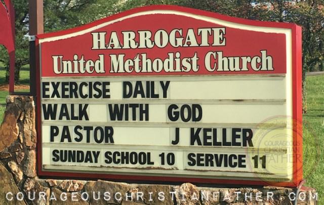 Exercise Daily Walk with God - Harrogate United Methodist Church