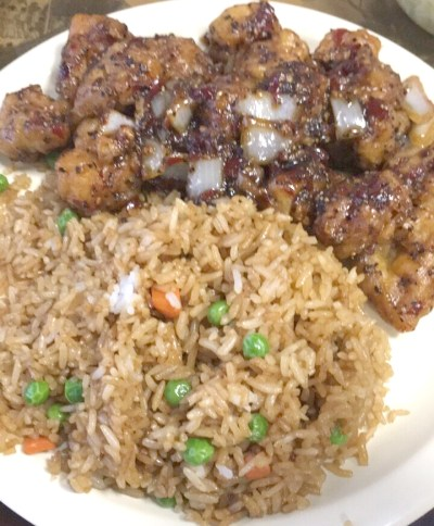 Twin Dragon Hibachi EXPRESS Ma La Chicken and Fried Rice