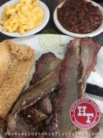 Haymaker Farm Resturant (Catfish, Brisket, Mac and Cheese, Baked Beans)