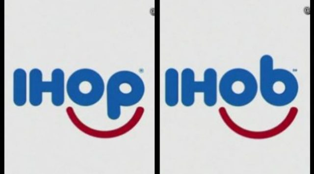 "IHOP changes name to IHOb and reveals the ""B"" is for Burgers"