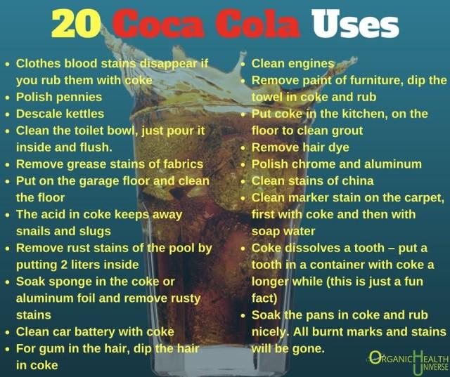 20 Coke Cola Uses