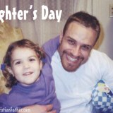 Daughter's Day - Below is a picture of Amber and I from December of 2002, Amber was 4 years old.