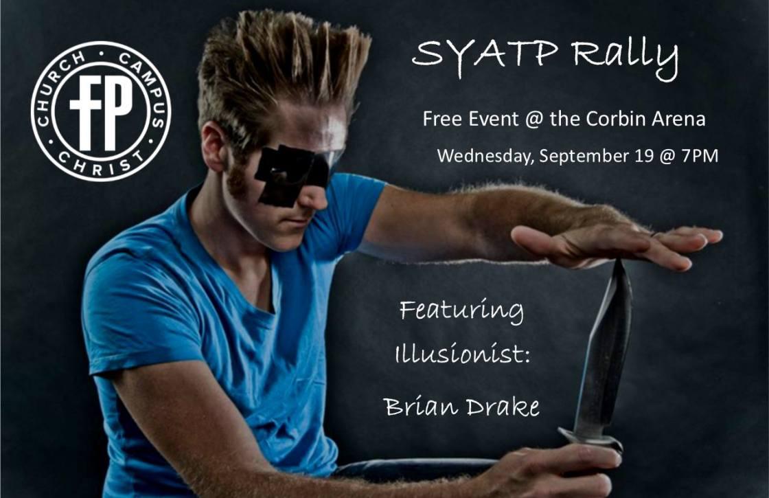 See You At The Pole Rally Corbin - Corbin, KY will host a Rally for the See You At the Pole 2018. This year will feature illusionist Brian Drake. #SYATP #BrianDrake