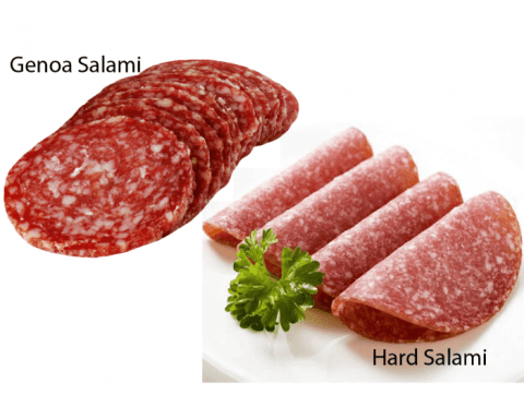 National Salami Day - A day to enjoy that yummy cured sausage. #NationalSalamiDay (Hard Salami & Genoa Salami)