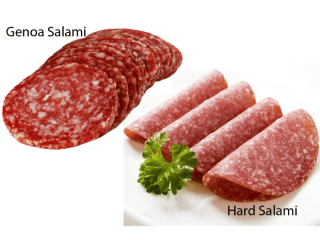 National Salami Day - A day to enjoy that yummy cured sausage. #NationalSalamiDay (Hard Salami & Genoa Salami)