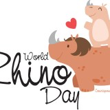 World Rhino Day - Day set aside for the rhinoceros. #WorldRhinoDay