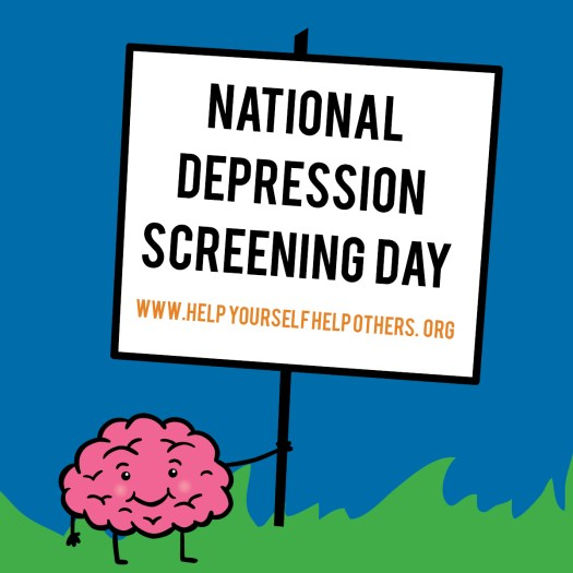 National Depression Screening Day - is an effort to reach individuals across the nation with important mental health education and connect them with support services. #DepressionScreeningDay