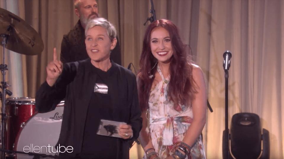 Lauren Daigle on The Ellen Show singing Still Rolling Stones
