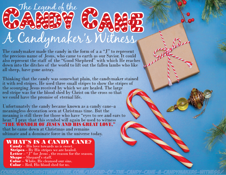 image about The Story of the Candy Cane Printable named Legend of the Sweet Cane: A Candymakers Witness