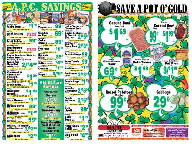 Hub Market Grocery Store Flyer (Outside)