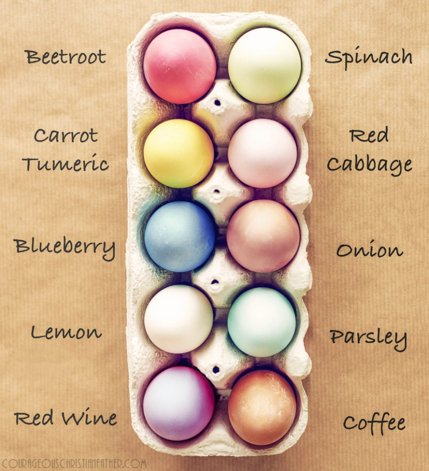 Dye eggs with all-natural ingredients - Below are a few tried and true methods for producing brilliantly hued eggs with items from the kitchen, courtesy of The Spruce and Martha Stewart.