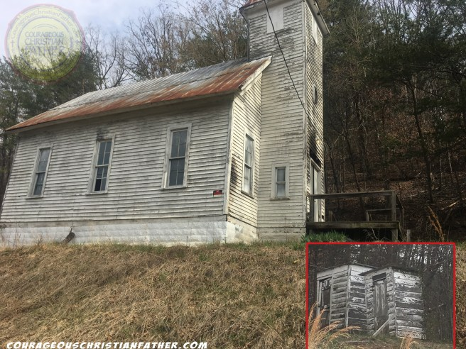 Old Church Building with Outhouses in Bulls Gap, TN - This church building sure does show some history to it, not only does it look old, it also has outhouses outside. (One former name was Life Boat Baptist Church).   Photo Credit: Steve Patterson
