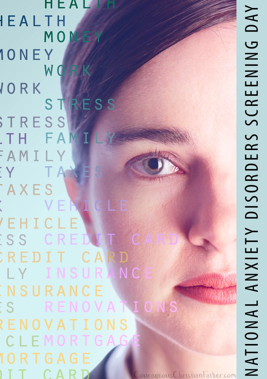 National Anxiety Disorders Screening Day - an awareness day to help raise the awareness to be screened if you believe you have an anxiety disorder or even a post-traumatic stress disorder.
