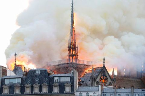 Notre-Dame Cathedral In Paris On Fire - the famous and popular cathedral in Paris France is on fire and even collapses. #NotreDame #Paris | Francois Guillot | AFP | Getty Images