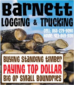 Barnett's Logging Ad
