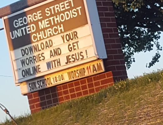 Download Worries Church Sign - This is a church sign in Jefferson City, TN from George Street United Methodist Church. As part of Church Sign Saturday, I thought I would feature this church sign.
