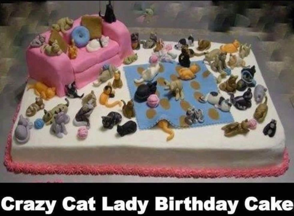 Fine Crazy Cat Lady Birthday Cake Courageous Christian Father Personalised Birthday Cards Bromeletsinfo