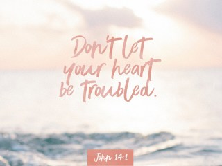"""VOTD May 30, 2019 """"Do not let your heart be troubled; believe in God, believe also in Me."""" JOHN 14:1 NASB"""