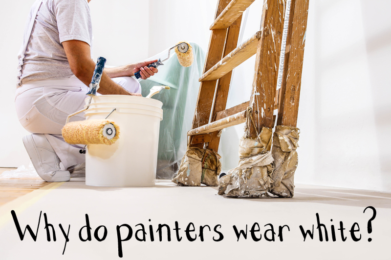 The sight of professional painters decked out in white overalls is a familiar one to many people. Perhaps you've pondered just why painters wear white? The reasons behind painters' sartorial choices is not easily verifiable, but it's fun to explore nonetheless.