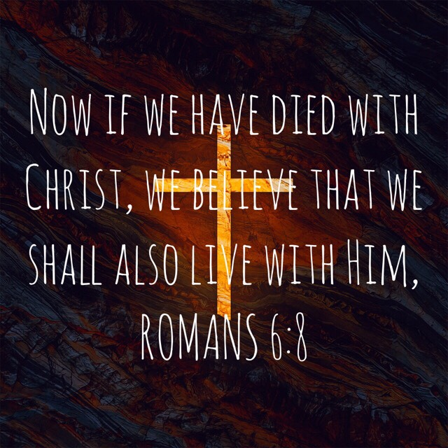 """VOTD June 8, 2019 """"Now if we have died with Christ, we believe that we shall also live with Him,"""" ROMANS 6:8 NASB"""
