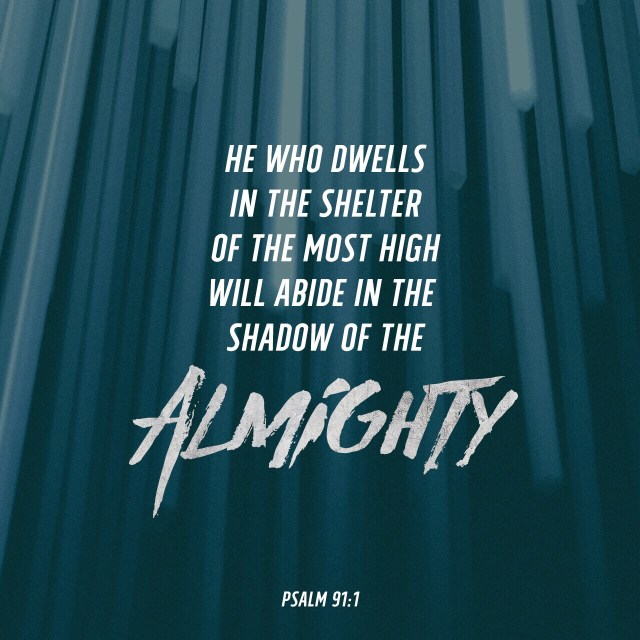 VOTD July 20, 2019 - He who dwells in the shelter of the Most High Will abide in the shadow of the Almighty. PSALM 91:1 NASB