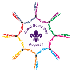 World Scout Scarf Day - a day set aside for former and current scouts to wear their scarfs. #WorldScoutScarfDay