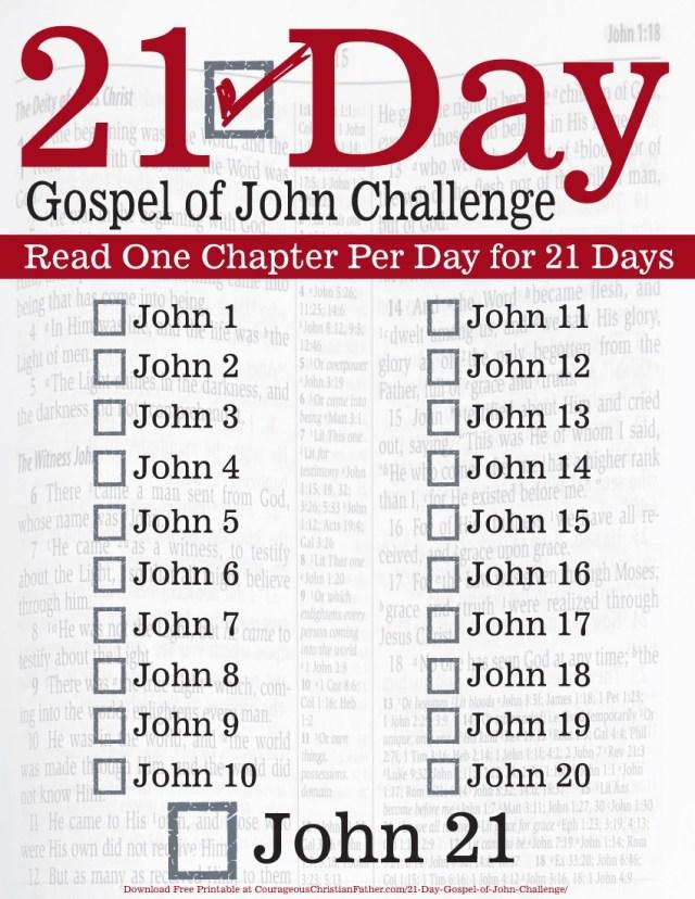 21 Day Gospel of John Challenge Printable