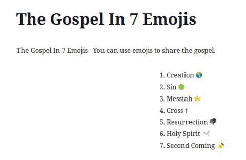 7 Emojis to present the Gospel
