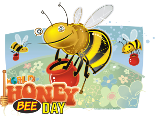 World Honey Bee Day - a day set aside for honey bees. #HoneyBeeDay