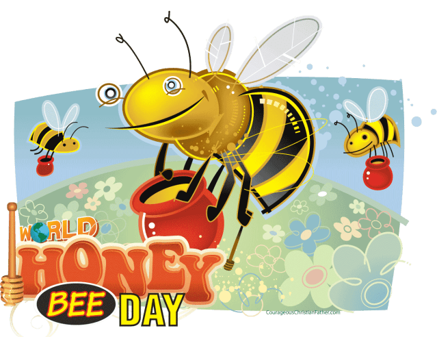 World Honey Bee Day - a day set aside for honey bees. #HoneyBeeDay