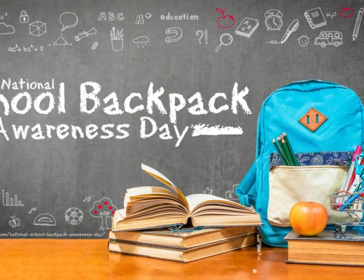 National School Backpack Awareness Day - an awareness holiday created by The American Occupational Therapy Association (AOTA) to help prevent injuries to the back, neck, and shoulders that can occur from carrying heavy backpacks. #NationalSchoolBackpackAwarenessDay #SchoolBackpackAwarenessDay