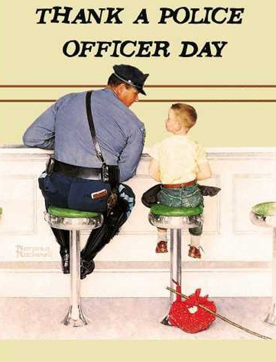 Thank A Police Officer Day - When you see a police officer be sure to thank him or her for their service. I do this to everyone I pass. #ThankAPoliceOfficerDay