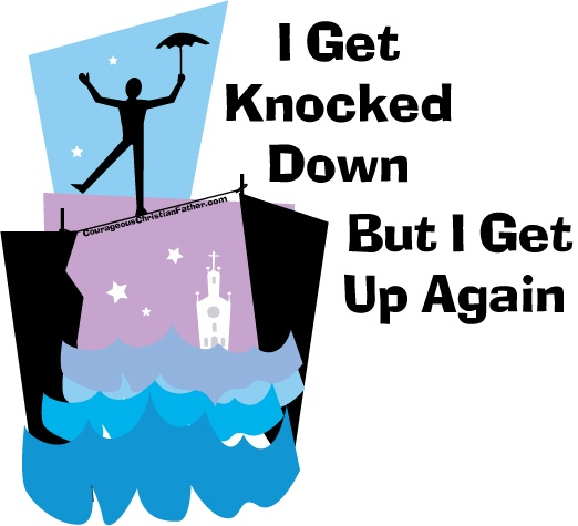 I get knocked down but I get up again​. When the devil knocks you down, you can always get back up again. God is always stronger and God will always pick you up. #BGBG2