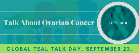 Teal Talk Day - an awareness day to raise awareness for ovarian cancer. #TealTalkDay #OvarianCancer