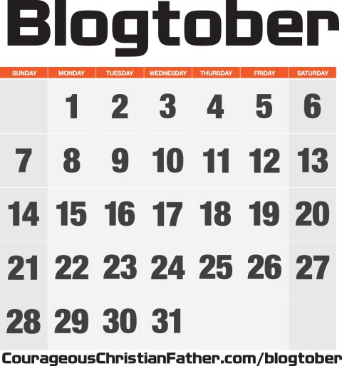 Blogtober a time to get blogging! Come on all you Christian Bloggers and Blog for the LORD! #Blogtober